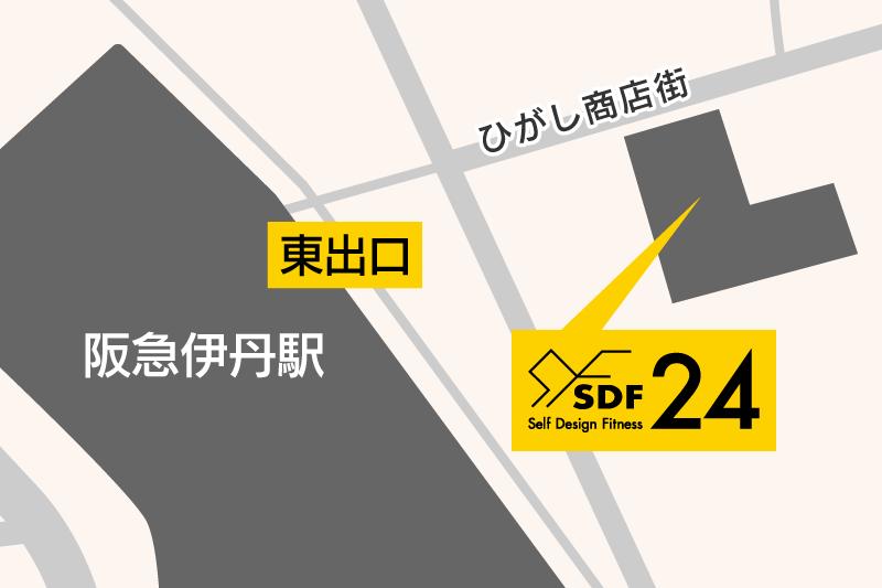 SDF24 阪急伊丹駅前店の地図